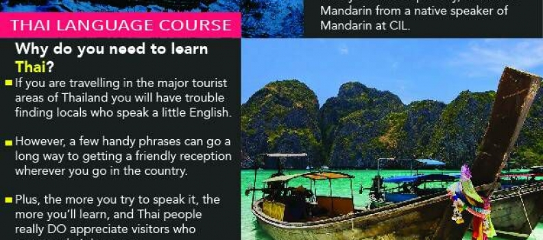 MANDARIN & THAI LANGUAGE COURSES